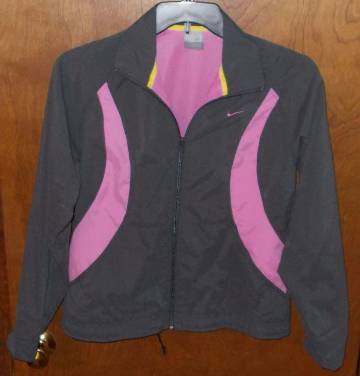 Nike Girl M 8-10 Windbreaker Jacket Pink Gray  #Nike #BasicJacket