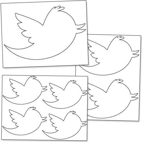 Printable Twitter Bird from PrintableTreats.com