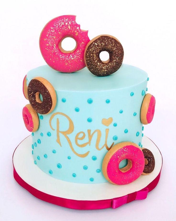 Donut birthday cake in 2020 donut birthday cake custom
