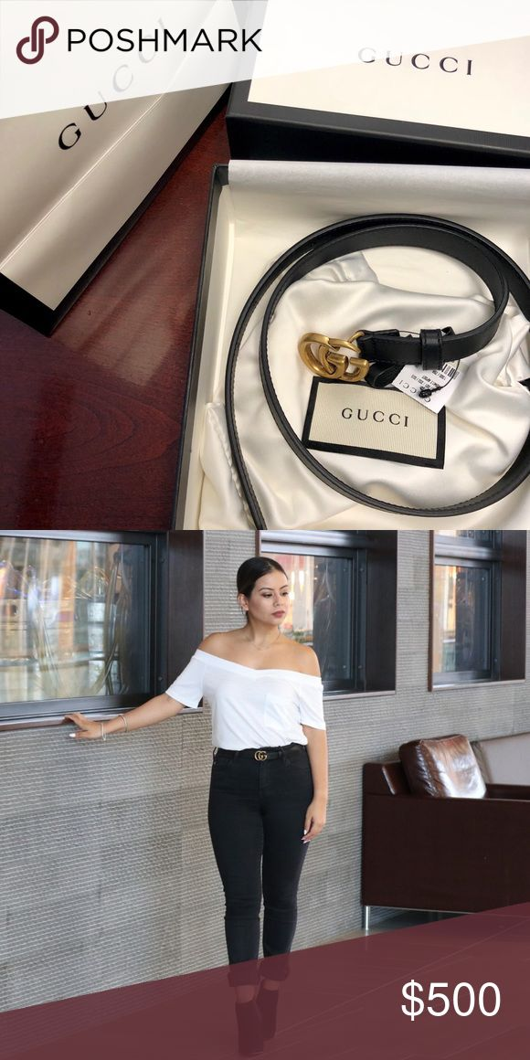 """Sold out everywhere .5"""" Double G buckle belt .5"""" GG Belt size 75cm (28 inches) Comes with tags, dust bag, box, Gucci retail bag and receipt! Gucci Accessories Belts"""