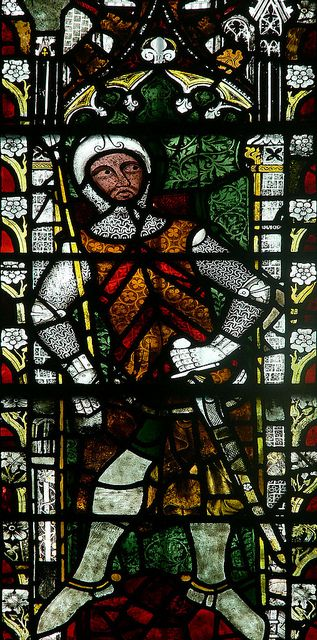 Gilbert de Clare, 5th earl of Gloucester, and his father  were among the 25 barons who pledged to enforce the provisions of the Magna Carta,& both were excommunicated by Pope Innocent III. During the 1st baron's war Gilbert first sided with Prince Louis of France, but after the Battle of Lincoln, he changed sides and joined his father-in-law William Marshall, supporting the young Henry III as king. Buried @ Tewkesbury Abbey.