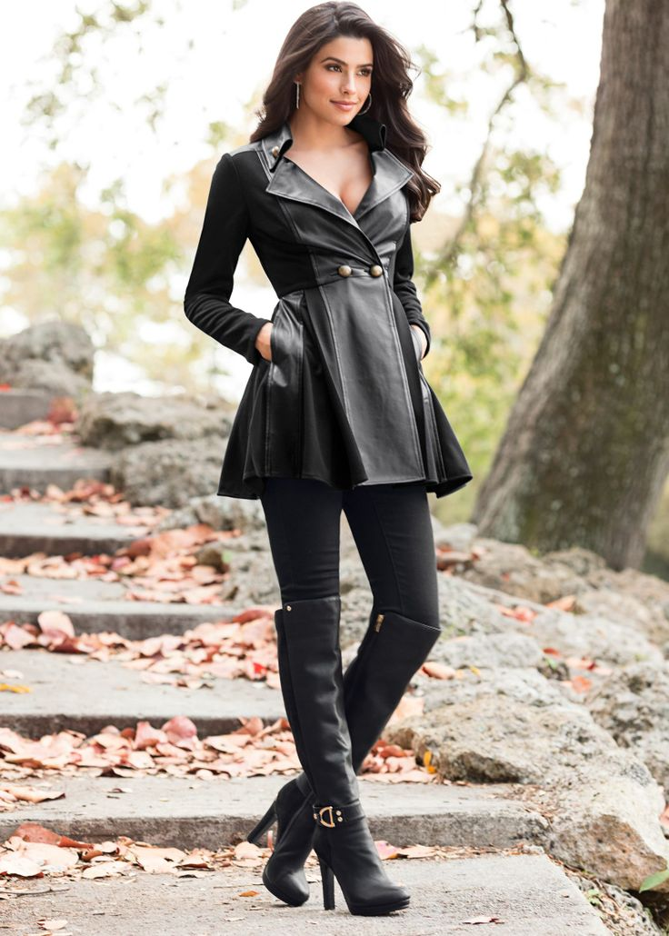 Boots and Leather Jacket Gio Ott | women in boots | Pinterest ...
