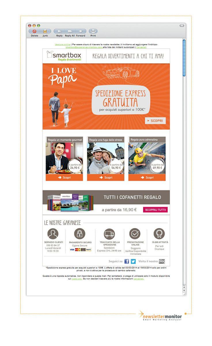 Brand: Smartbox | Subject: Spedizione gratuita per la Festa del papà!