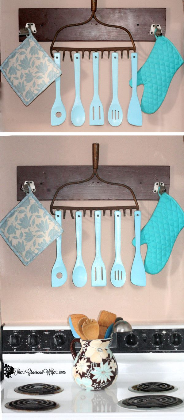 Rake Utensil Holder Check out The Gracious Wife to learn how to make