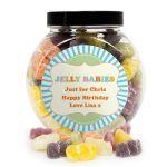 Personalised Jelly Babies Sweet Jar