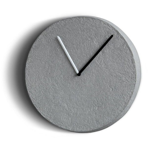 INDI TIKSI Clock (€135) ❤ liked on Polyvore featuring home, home decor, clocks, grey, grey home decor, grey clock, gray home decor and gray clock