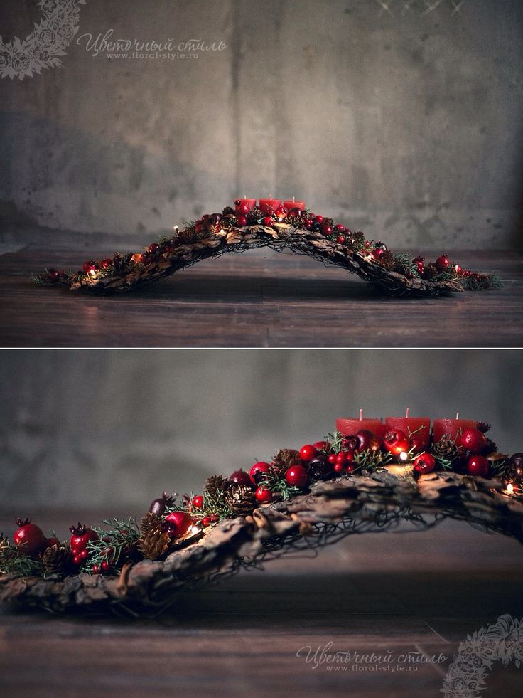 What a creative base for a natural arrangement; driftwood would look perfect. chtige boog..