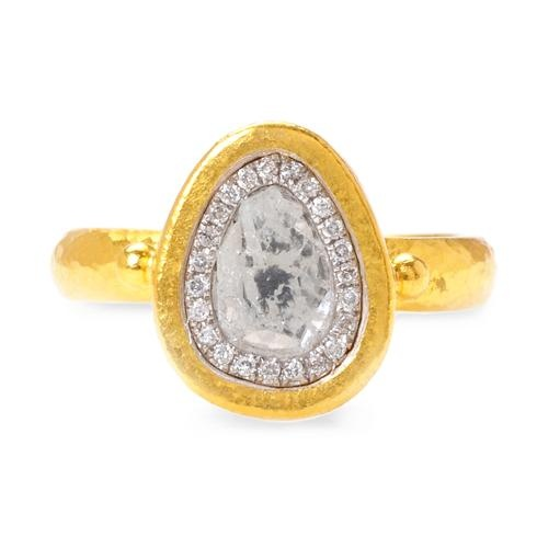 Gurhan Diamond Slice Ring in 24k Yellow Gold, $4675 at Greenwich Jewelers