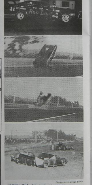 Ron Leaf Funny Car fail, I've seen video and photos of top fuel blow overs, but not a funny car.
