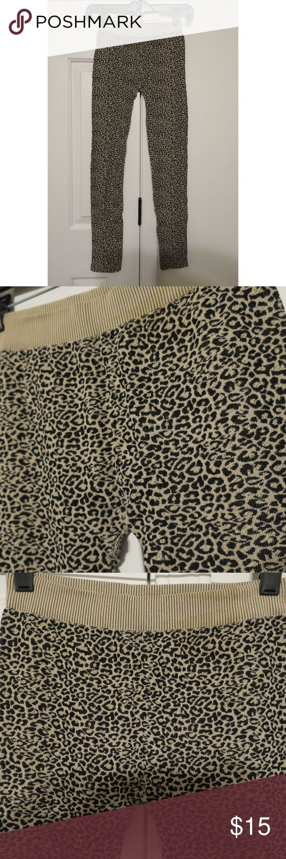 Leopard print leggings Super cute leopard print leggings! Very stretchy and comfortable. Will fit a wide variety of body types. There's no tag so I'm unsure of the size, but I'm a small and these leggings fit me well but still could stretch to fit a medium easily. Only worn once. No pilling or pulls in the fabric. Still looks brand new! Bought at a local boutique. Pants Leggings