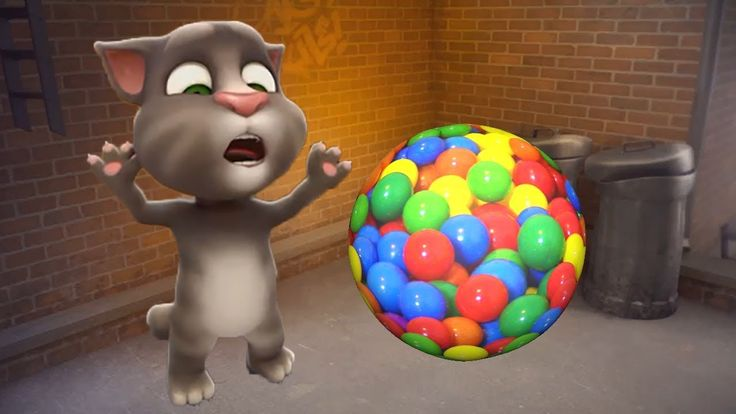 Baby Learn Colors with colours My Talking tom Cat funny animals compilat...