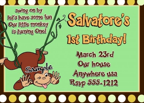 47 best curious george party images on pinterest | curious george, Birthday invitations