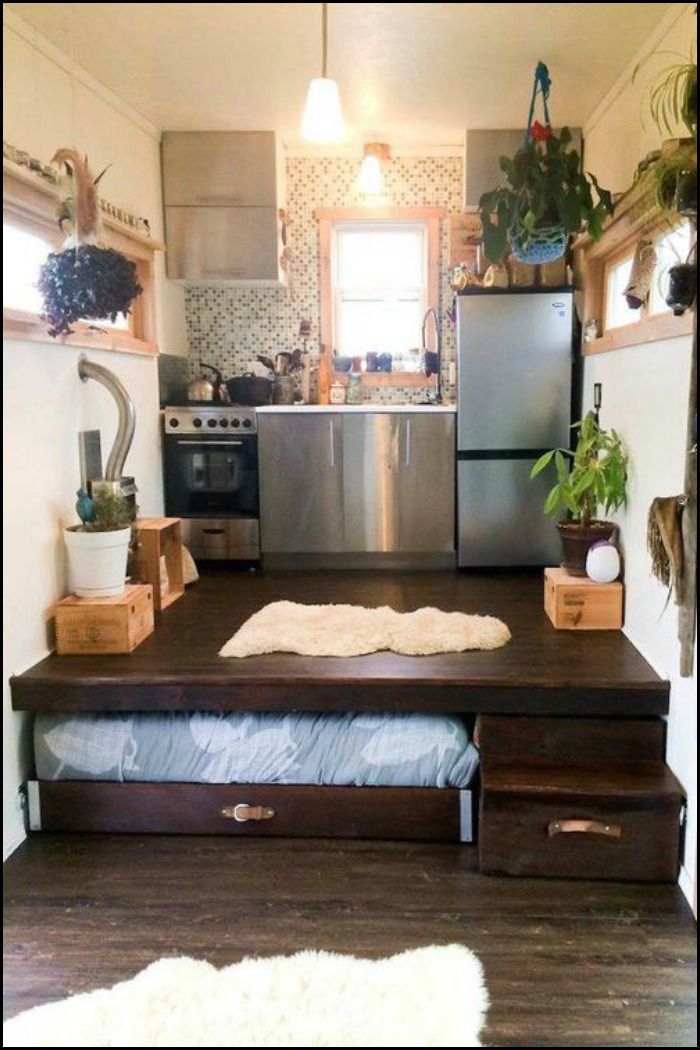 How To Build A Pull Out Bed Under A Platform Floor | Bedrooms, Spaces And  Tiny Houses