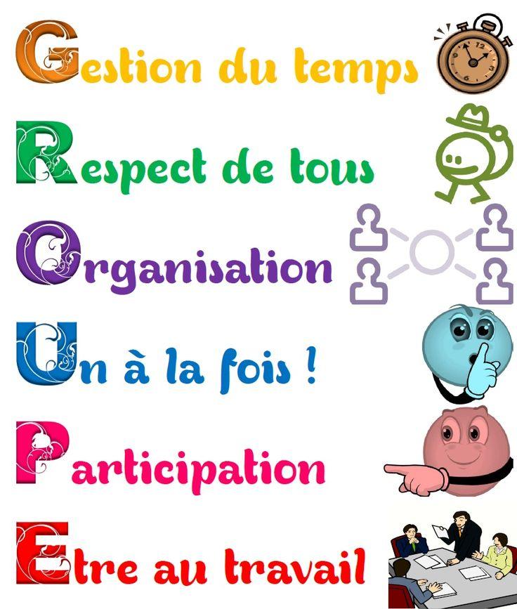 Petit rappel des règles du travail de groupe | MA MAITRESSE DE CM1-CM2