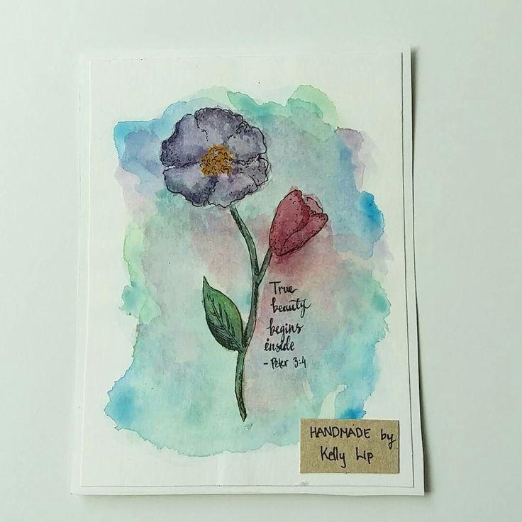 #birthdaycard #handmadebykellylip #withheart #handmadecard