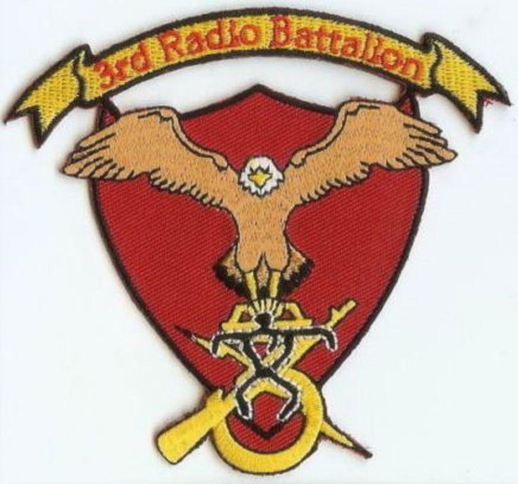 USMC 3rd Radio Battalion shield! PATCH III MEF Communications Marines 3rd Rad Bn