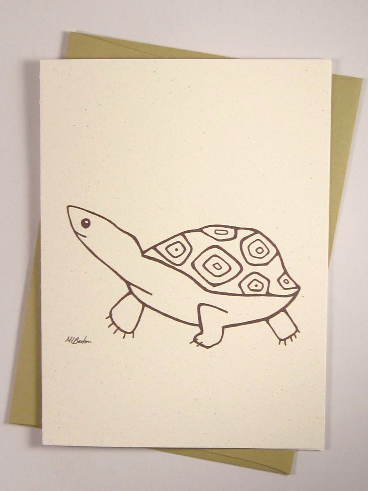 Happy Turtle Card Thinking of You Card by QuillandFeatherTales, $4.20 | Quill and Feather Tales ...