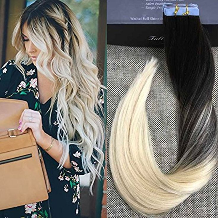 (34.95$)  Watch here - http://aiyes.worlditems.win/all/product.php?id=32770089806 - Full Shine High Quality Balayage Remy Brazilian Hair in Real Hair Extensions Tape Hair Color #1B#613 Extensiones De Cinta Ombre