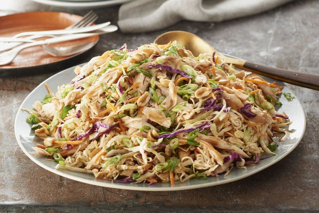 Combine cabbage and noodles in this fabulous-looking salad. This Asian Chicken, Cabbage and Noodles Salad is oh so easy to make, thanks to a few key ingredients.