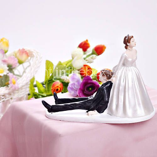 [JPY ¥ 1,626] 幸せな花嫁&花婿の結婚式ケーキトッパー