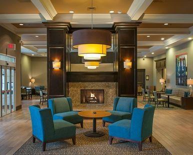 Hampton Inn & Suites New Orleans-Elmwood Hotel, Harahan LA - Lobby with Fireplace