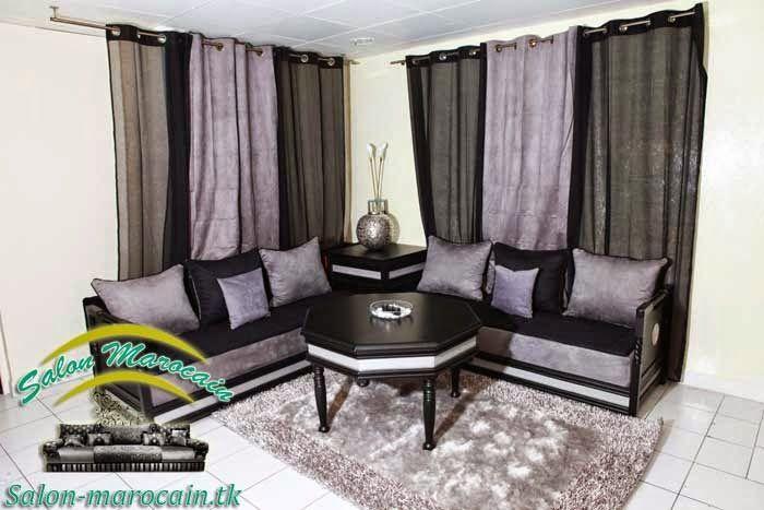 rideaux salon marocain de tendance gris noir 2014 salon marocain pinterest salon marocain. Black Bedroom Furniture Sets. Home Design Ideas