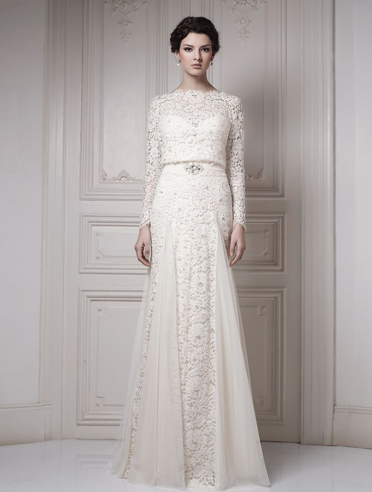 Wedding dresses Couture 2015 Collection - Ersa Atelier i love the lace and silhouette of the upper half!