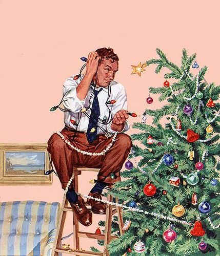 Maybe this is why my husband has NEVER put the lights on our tree!