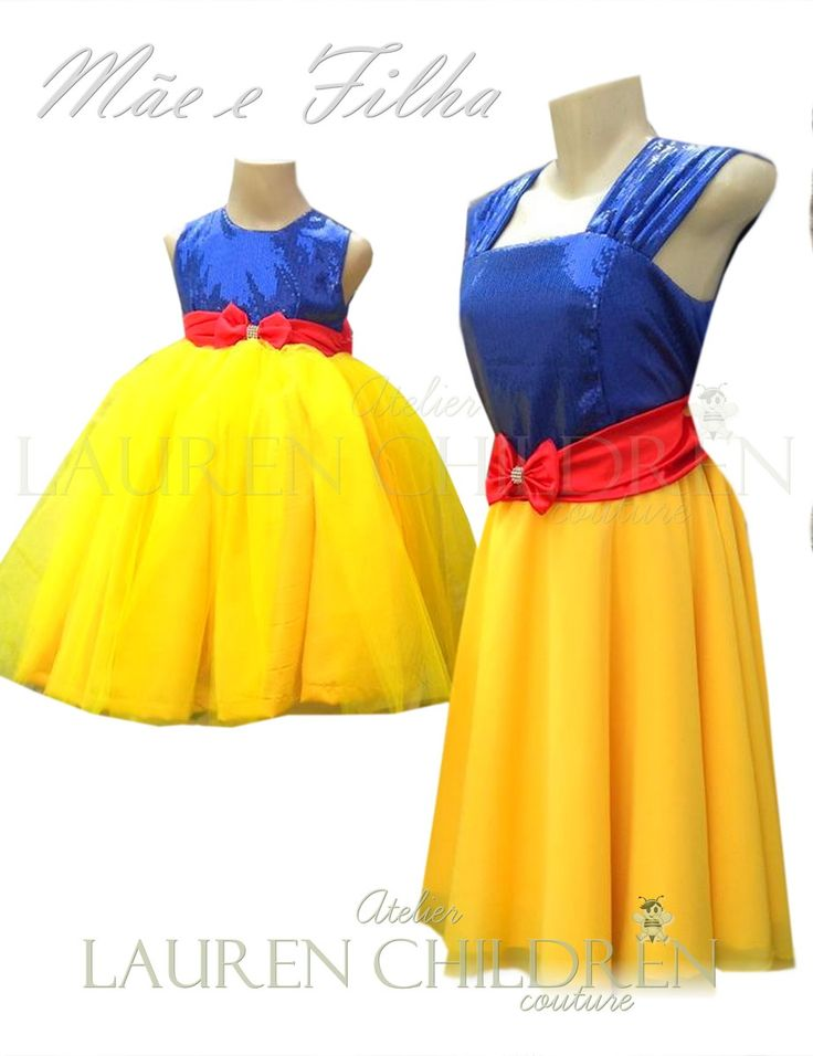 Vestido Mãe e Filha <br>Vestido filha acima de 6 anos possui acréscimo de valores.