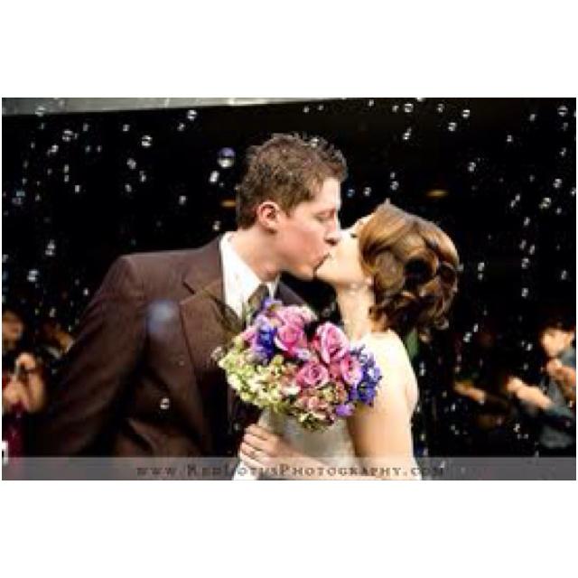I fancy a wedding bubble picture