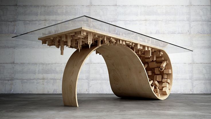 Wave City Dining Table by Stelios Mousarris.
