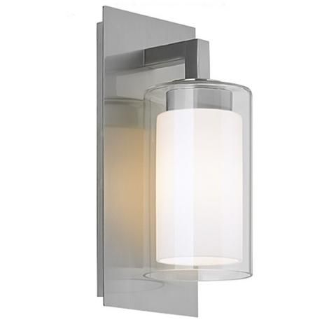 "Feiss Salinger 12"" High Double Glass Outdoor Wall Light -"