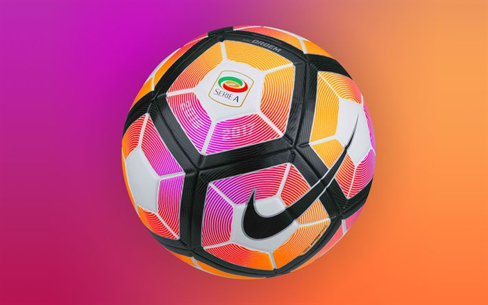 Descargar fondos de pantalla Nike, de fútbol, de la Serie a 2016-2017 Pelota, fútbol #futboloutfitwoman