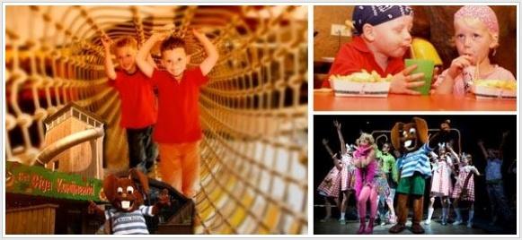 Konijn Bultje neemt de kids mee naar een ondergronds speelhol voor eindeloos speelplezier! Inclusief een theatervoorstelling, frietjes en een ijsje.