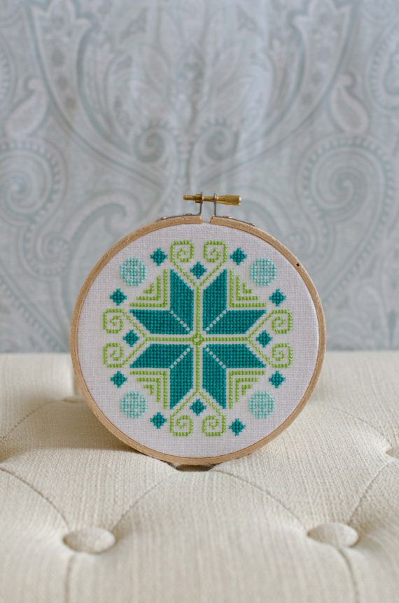 Cross Stitch Pattern PDF Colorful Ornament by PalenciaGrove, $3.00
