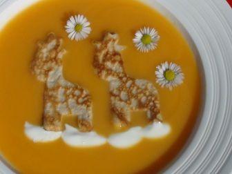 Talíř lahodné mrkvové polévky
