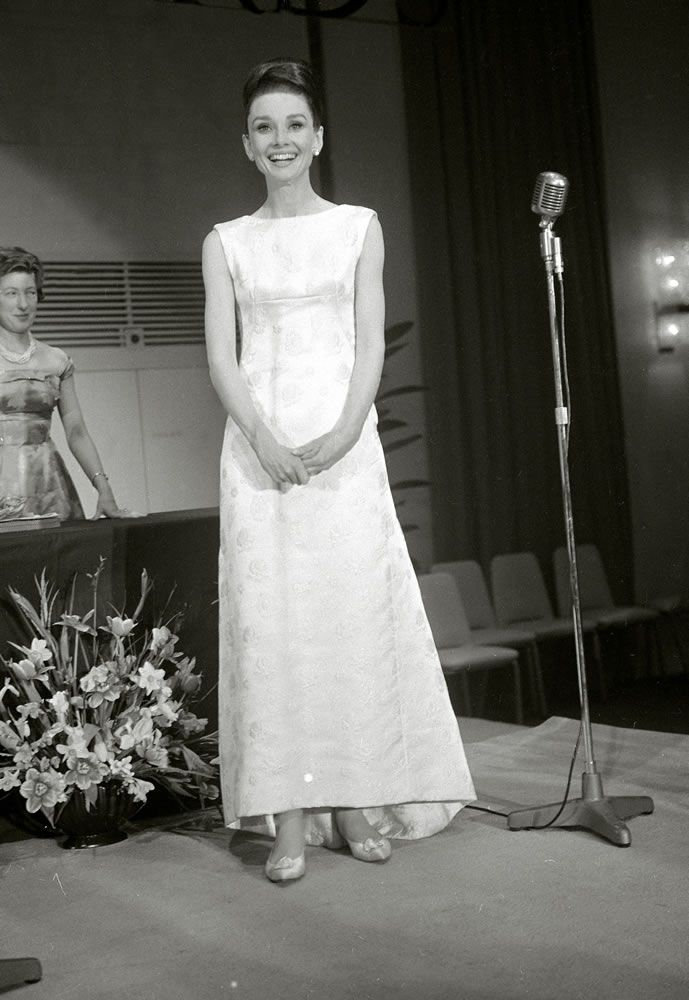 Audrey Hepburn at the British Film Academy Awards, April 1964.