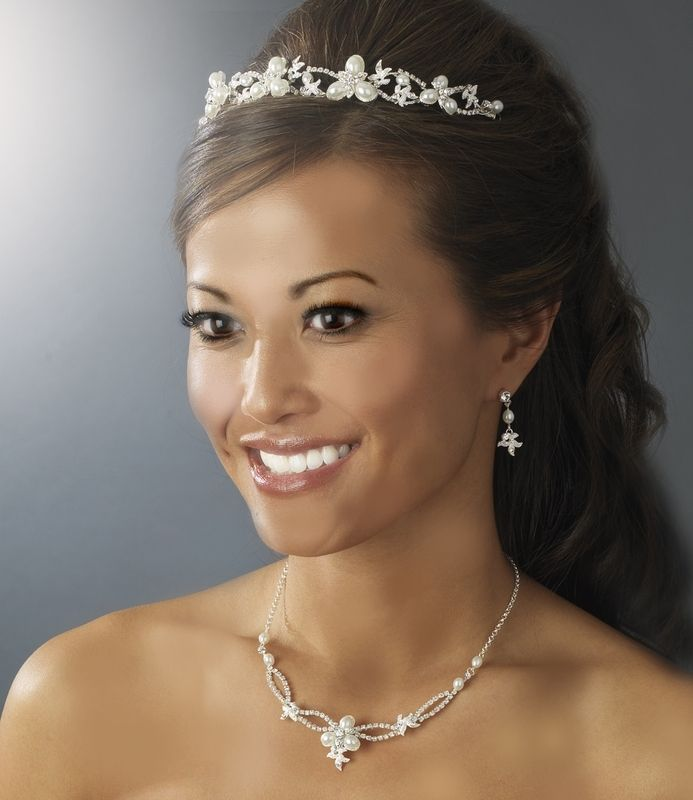 8 best Wedding Tiara Sets images on Pinterest Wedding supplies