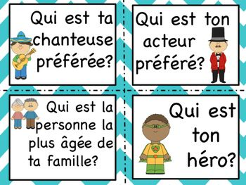 French Sentence Starters- Oral and Writing Prompts. Great for centres or as an activity after entry times :)