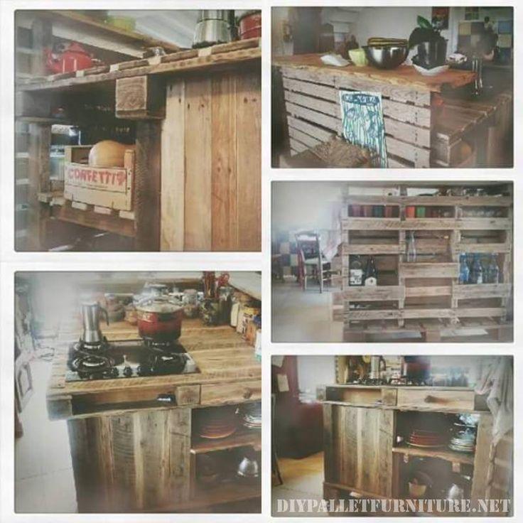 48 best palettenmöbeln images on Pinterest Pallet furniture - küche aus paletten