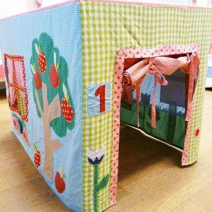 Tafel tent hut | table tent Speelhuisje als een tent over je tafel.