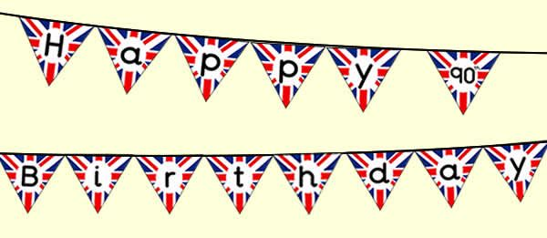 21-6-16 - Union Jack bunting for the Queen's 90th birthday party.