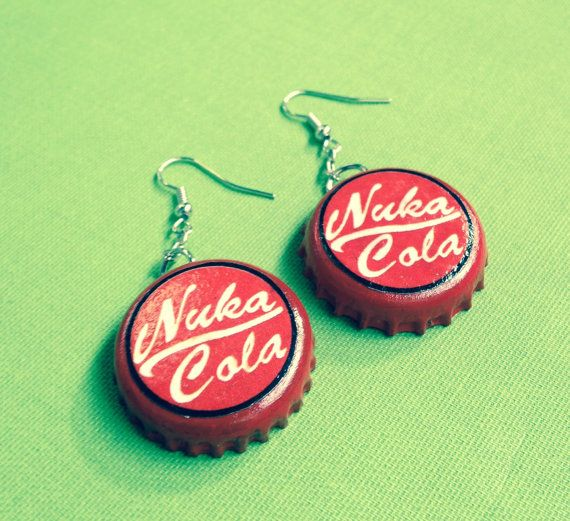Fallout Inspired Nuka Cola Bottle Cap Upcycled by PHUNKYPARADOX