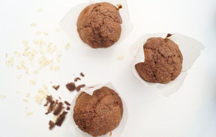 Chocolade banaan muffins #gezondechocolademuffins #chocolademuffins #chocoladebanaanmuffins #banaanmuffins #muffins