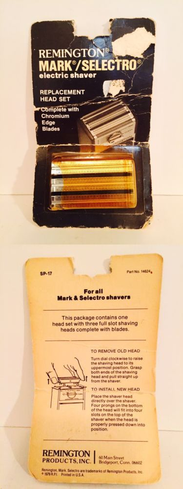 Shaver Parts and Accessories: Remington Mark Selectro Replacement Head Set Chromium Blades Sp-17 Vintage -> BUY IT NOW ONLY: $32.99 on eBay!