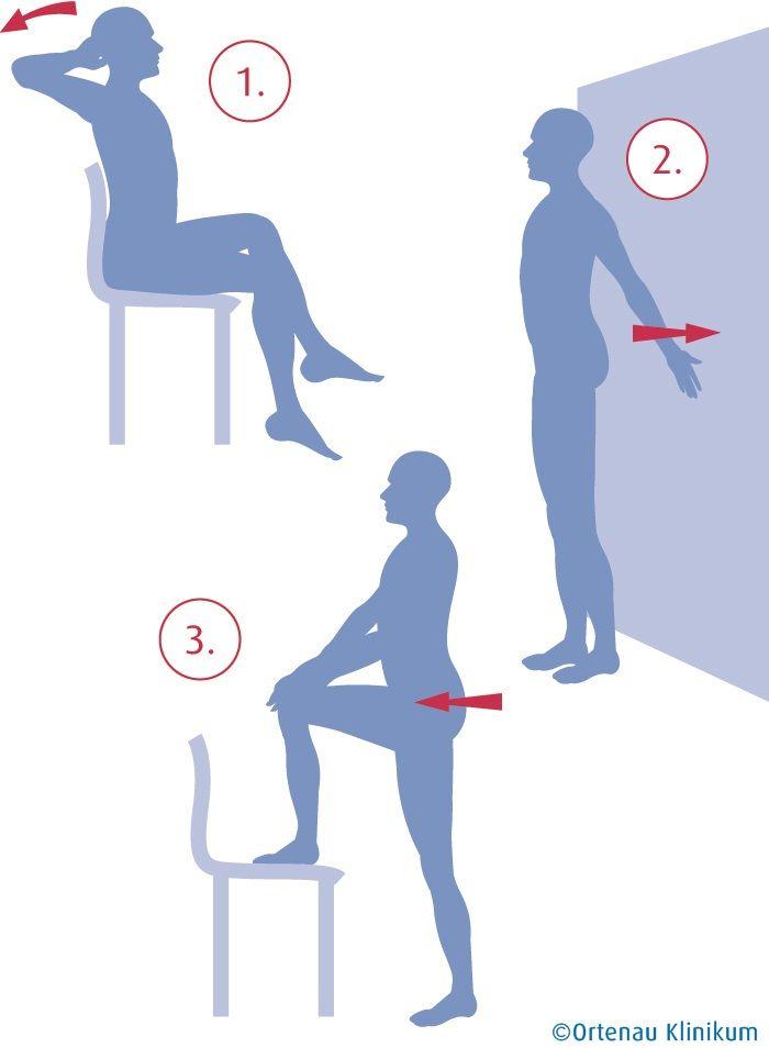 3 einfache Übungen für einen gesunden Rücken (Quelle: Ortenau Klinikum)