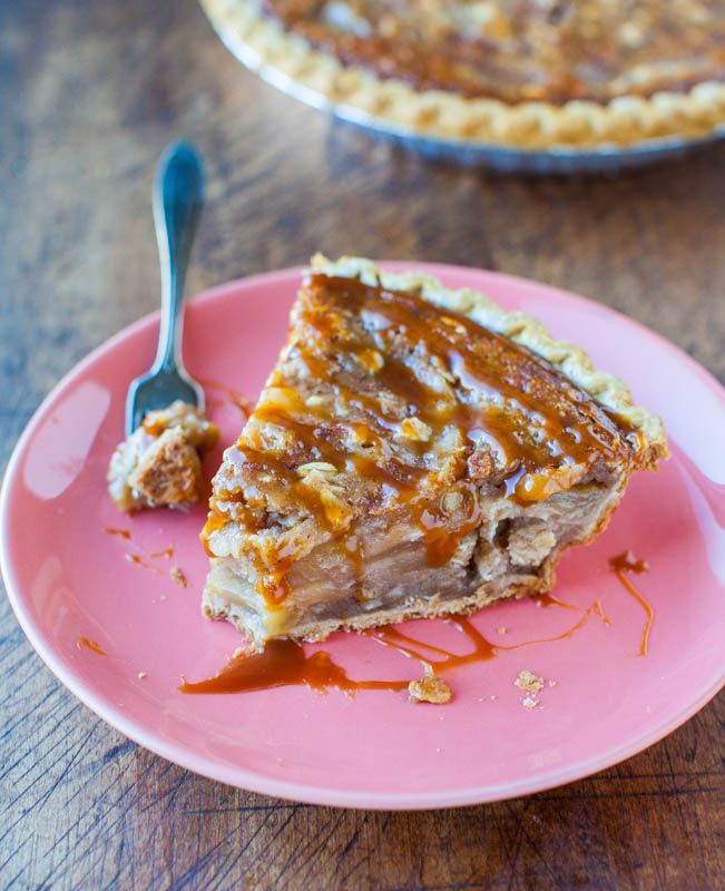 caramel apple pie crumble! MMM! this looks yummy!