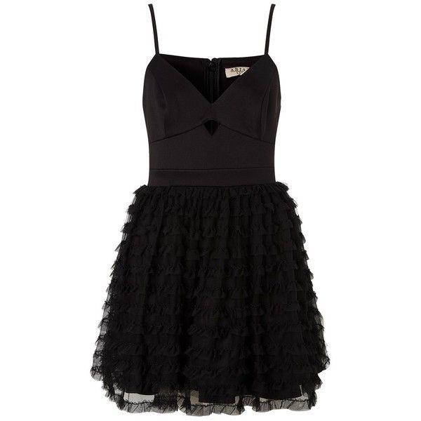Ariana Grande For Lipsy Ruffle Prom Dress (700 MXN) ❤ liked on Polyvore featuring dresses, robe, short dresses, vestidos, cami dress, short sweetheart dress, strap prom dresses, sweetheart neckline cocktail dress and cocktail prom dress