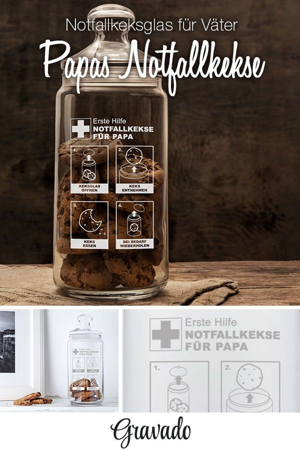 Notfall - Keksglas personalisiert mit individueller Gravur | PAPA ...