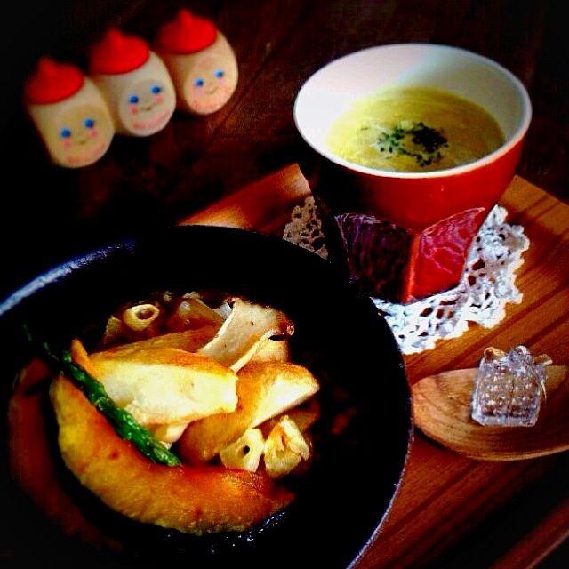 旬の野菜は甘くて美味しい〜(*´∀`)φ. - 16件のもぐもぐ - 揚げ野菜のカレーリゾット &         紅あずまのポタージュ by nanon